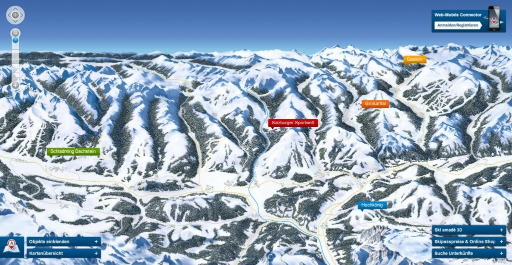 Ski Amade Pistenpanorama